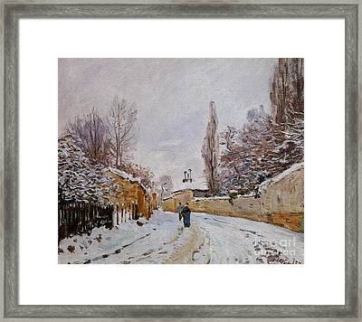 Snow On The Road Framed Print by MotionAge Designs