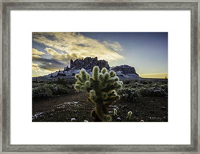 Snow On The Sups Framed Print by Bill Cantey