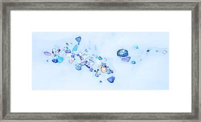 Snow Pebbles Abstract Framed Print by Theresa Tahara