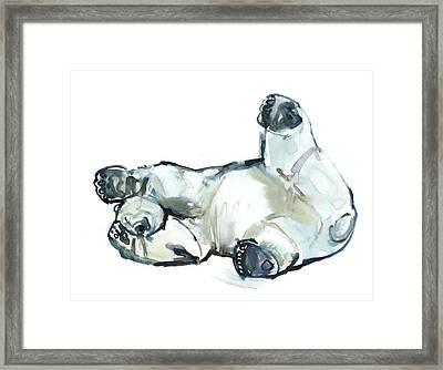 Snow Rub Framed Print by Mark Adlington