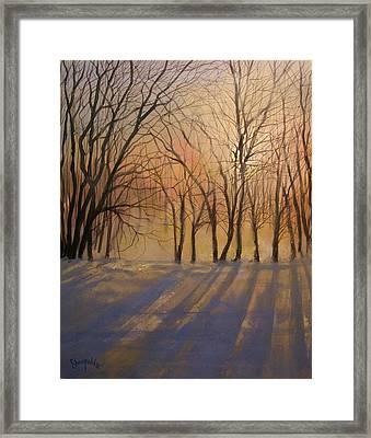 Snow Shadows Framed Print by Tom Shropshire