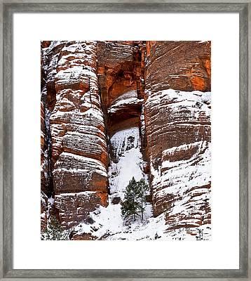 Snow Stripes Framed Print by Christopher Holmes