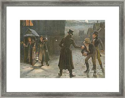 Snowballing The Watchmen Framed Print by George Goodwin Kilburne