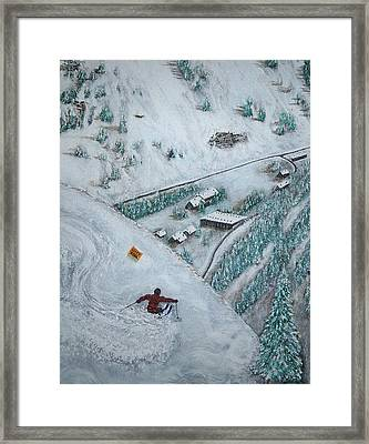 Snowbird Steeps Framed Print by Michael Cuozzo