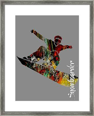 Snowboarder Collection Framed Print by Marvin Blaine