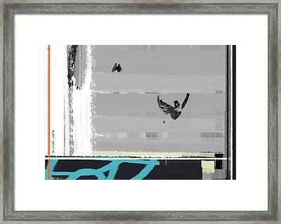 Snowboarding Framed Print by Naxart Studio
