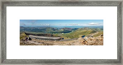 Snowdon Cafe Framed Print by Adrian Evans