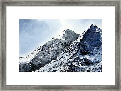 Snowdon Framed Print by Paul Dene Marlor