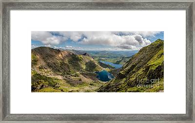 Snowdon Summit Framed Print by Adrian Evans