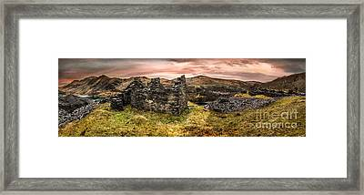 Snowdonia Ruins Panorama Framed Print by Adrian Evans
