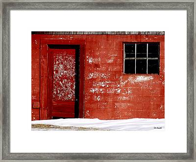 Snowed In Framed Print by Ed Smith