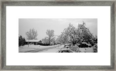 Snowed In Framed Print by Jera Sky