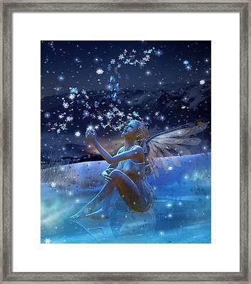 Snowflake Framed Print by Mary Hood