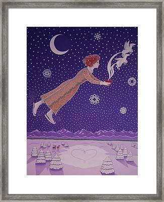 Snowflight Framed Print by Karen MacKenzie