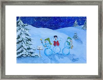 Snowie Musicians Framed Print by Donna Tucker