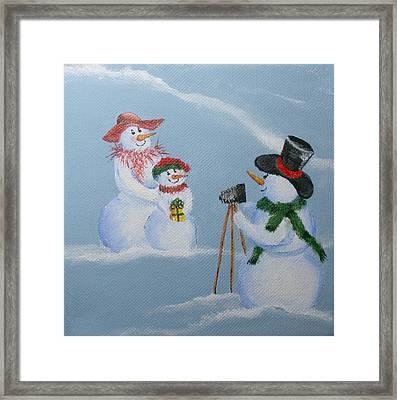Snowie Photographer Framed Print by Donna Tucker
