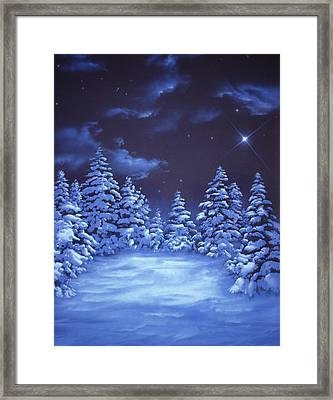 Snowstars Framed Print by William Rogers