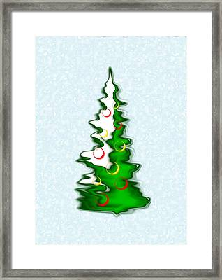 Snowy Christmas Tree Framed Print by Anastasiya Malakhova