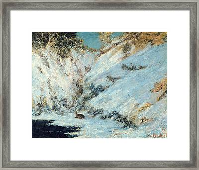 Snowy Landscape Framed Print by Gustave Courbet