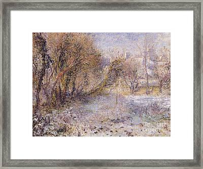 Snowy Landscape Framed Print by Pierre Auguste Renoir