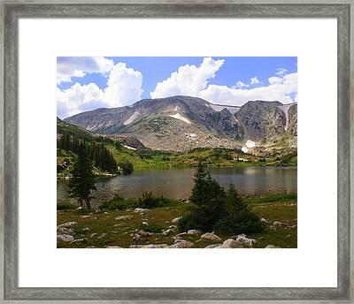 Snowy Mountain Loop 9 Framed Print by Marty Koch