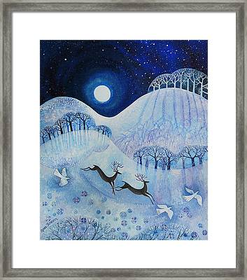 Snowy Peace Framed Print by Lisa Graa Jensen