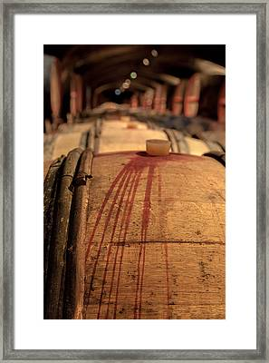 So Much Wine ... Framed Print by W Chris Fooshee