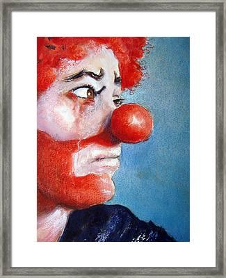 So Sad Framed Print by Myra Evans