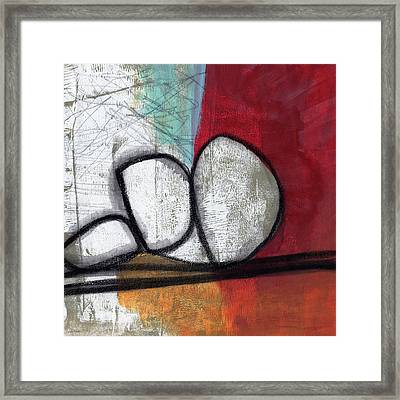 So We Begin- Abstract Art Framed Print by Linda Woods