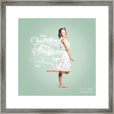 Soap Suds Pin Up Girl Framed Print by Jorgo Photography - Wall Art Gallery