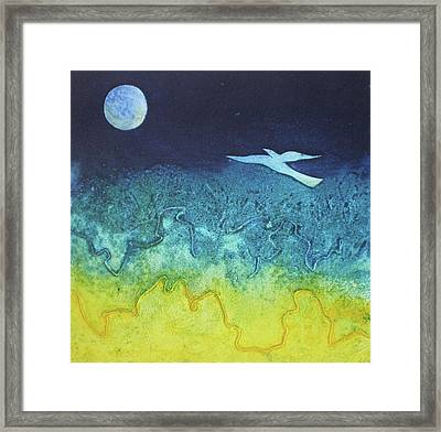 Soaring Into The Blue Framed Print by Susanne Clark