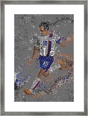 Soccer Framed Print by Danielle Kasony