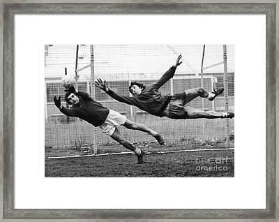 Soccer Goalies, 1974 Framed Print by Granger