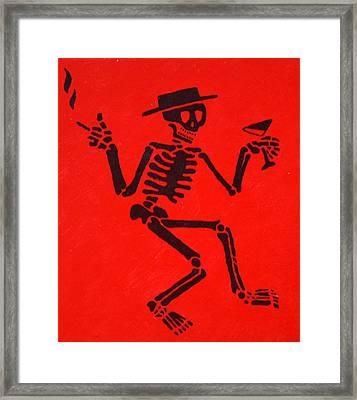 Social Distortion Skully Framed Print by Steven Sloan