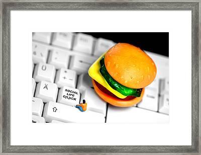 Social Life Clicks Framed Print by Elke Rampfl-Platte
