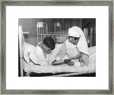 Society Girls Volunteer Time Framed Print by Underwood Archives