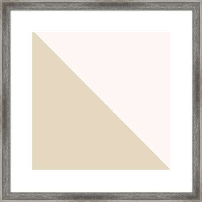 Soft Blush And Champagne Framed Print by Linda Woods