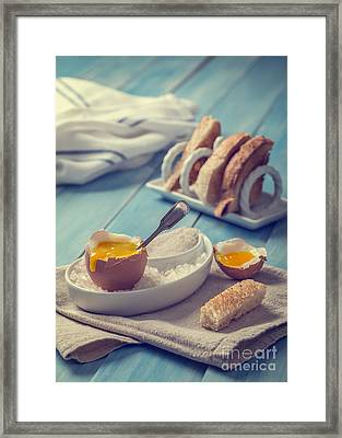 Soft Boiled Egg Framed Print by Amanda And Christopher Elwell