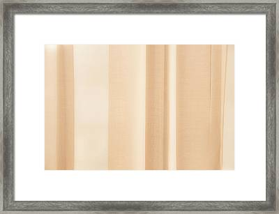 Soft Focus Curtain Background Framed Print by Dutourdumonde Photography