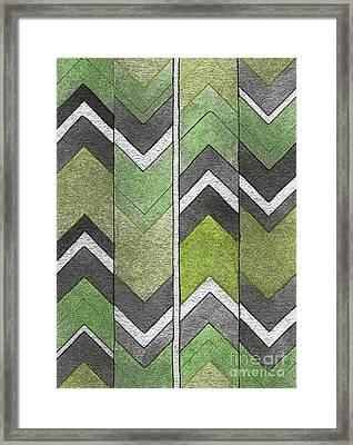 Soft Geometry Framed Print by Norma Appleton