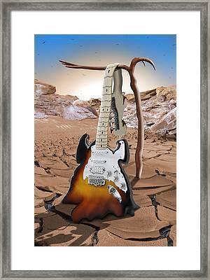 Soft Guitar 4 Framed Print by Mike McGlothlen
