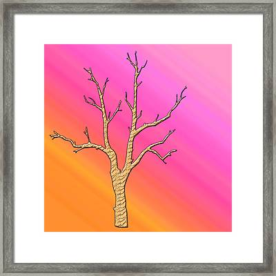 Soft Pastel Tree Abstract Framed Print by Aimee L Maher Photography and Art Visit ALMGallerydotcom