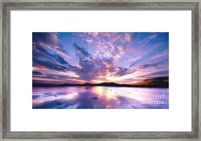 Soft Setting Framed Print by Jacky Gerritsen