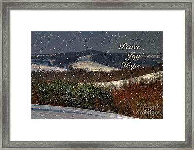 Soft Sifting Christmas Card Framed Print by Lois Bryan