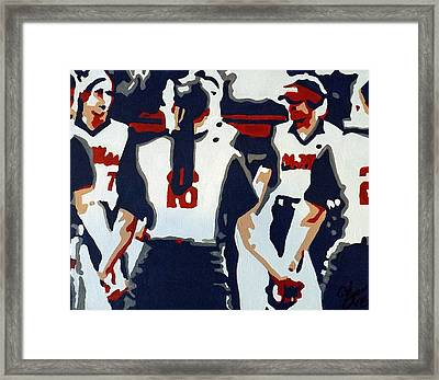 Softball Sisterhood Framed Print by Steve Cochran