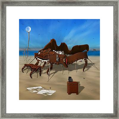 Softe Grand Piano Se Sq Framed Print by Mike McGlothlen