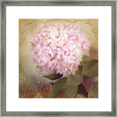 Softly Summer - Hydrangea Framed Print by Audrey Jeanne Roberts