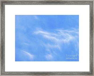 Softness Of Clouds Framed Print by Terril Heilman
