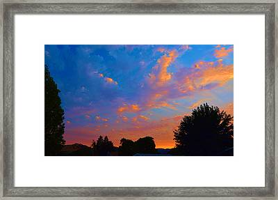 Solano County North Framed Print by Josephine Buschman