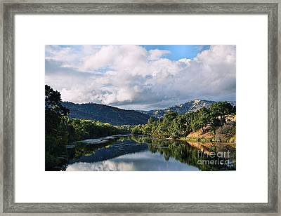 Solano Lake In The Fall Framed Print by Nancy Chambers